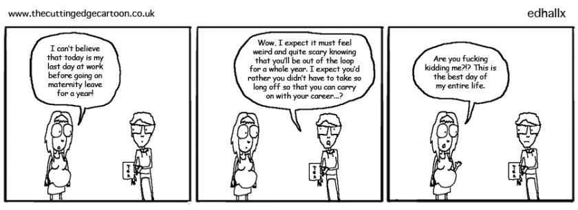 Maternity Leave Cartoon Strip Beliefs Paternity Leave