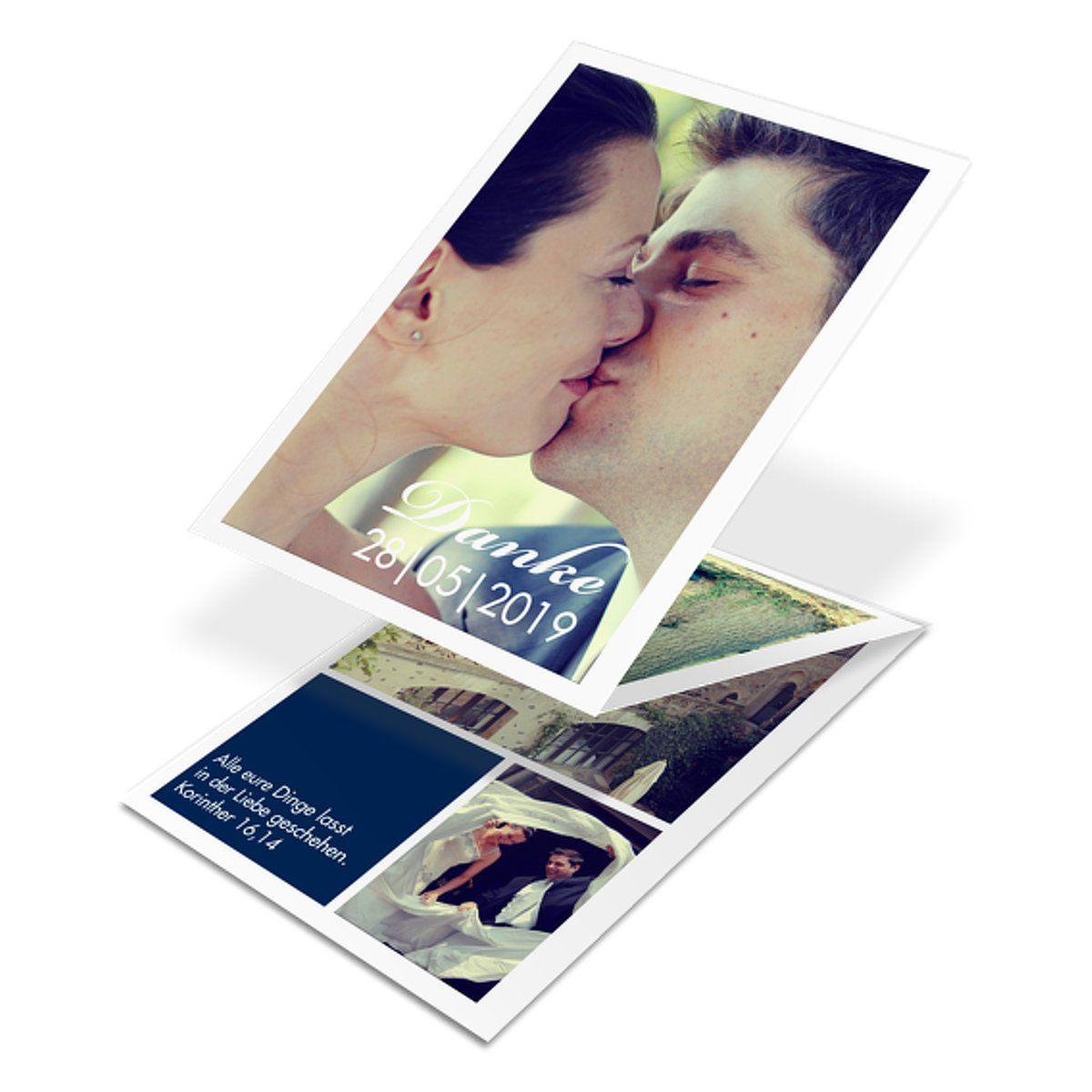 """Dankeskarte Hochzeit """"Perfect Match"""""""