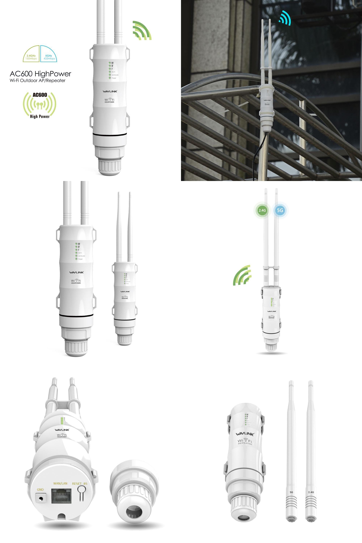 Visit To Buy Wavlink Ac600 High Power Outdoor Weatherproof Wireless Tenda N301 Router 2 Antenna White Wifi Ap