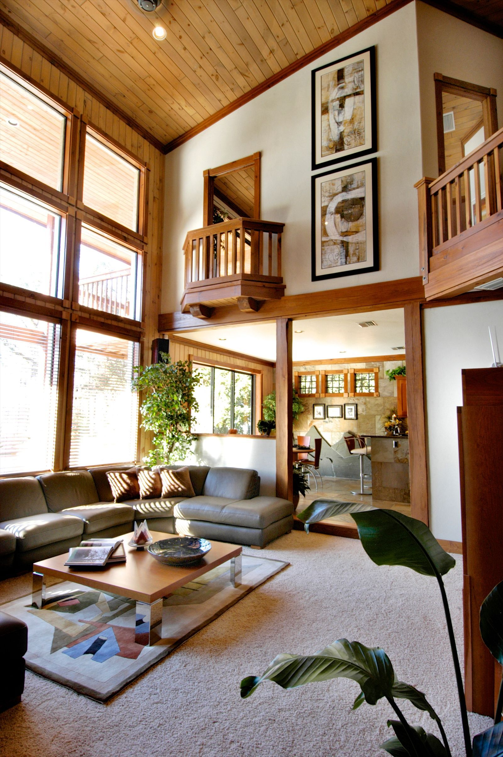 Juliet Balcony Overlooking A 2 Story Living Room
