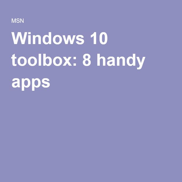 windows 10 toolbox