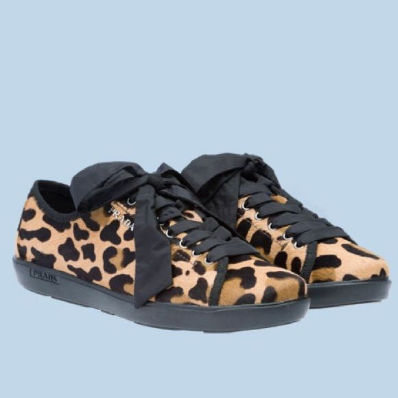 Prada Cheetah Print Sneakers Prada Cheetah Print Sneakers - Gently used Prada shoes - in really good condition. Very comfortable, cute and stylish print. I honestly just never wear them, so I thought they would be more happy with someone else.  Prada Shoes Sneakers