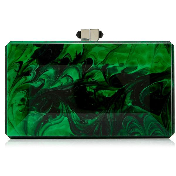 Judith Leiber Couture Rectangle Malachite Clutch 1 895 Liked On Polyvore Featuring Bags Handbags Clutches Green Bag
