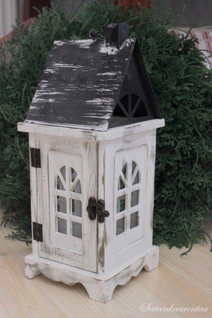 Antiikin valkoinen talolyhty pienempi | sateenkaarentaa