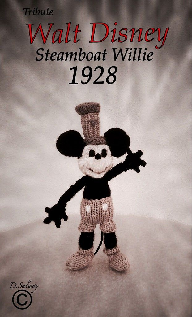 Disney classic mickey knit toy!! pattern by Denise Salway | Toys ...