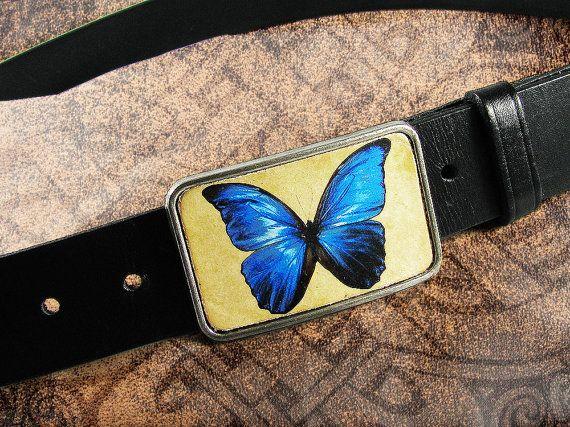 Belt Buckle The Butterfly Leather Insert Belt Buckle Belt Buckles Belt Buckle
