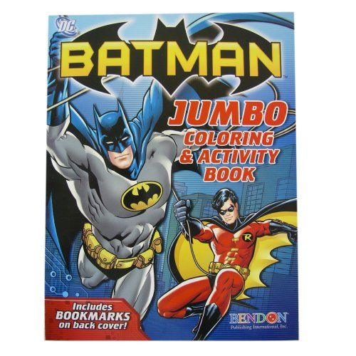 Batman Jumbo Coloring And Activity Book Amazon
