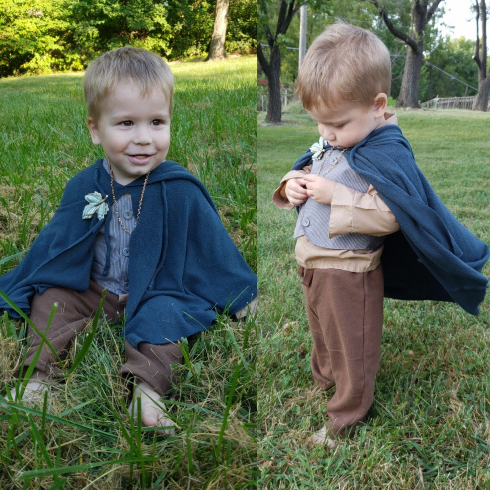 My son is going to be Frodo Baggins for Halloween