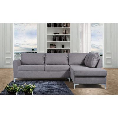 NathanielHome Landon Reversible Chaise Sectional & Reviews | Wayfair