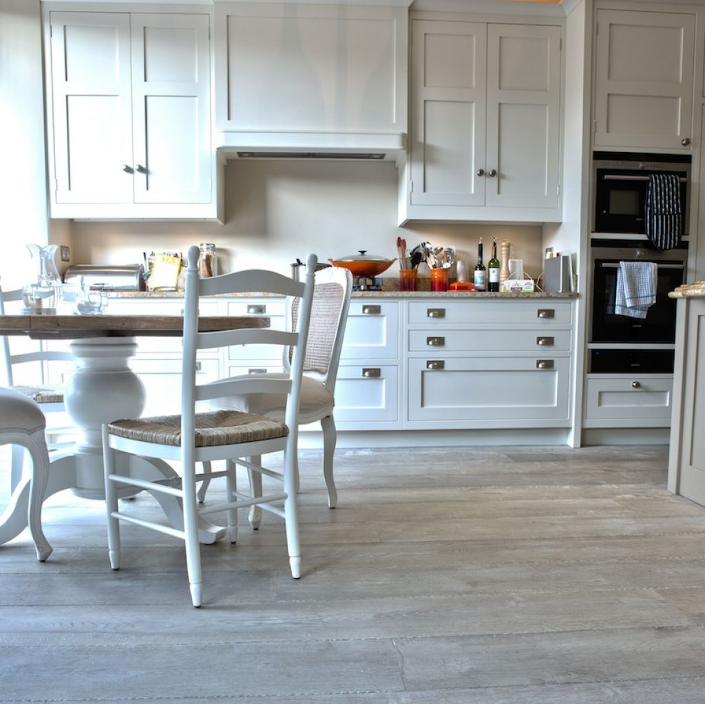 Oak Floors In Kitchen Weathered Driftwood Grey Oak Floor In Kitchen Kitchen Wood Floor
