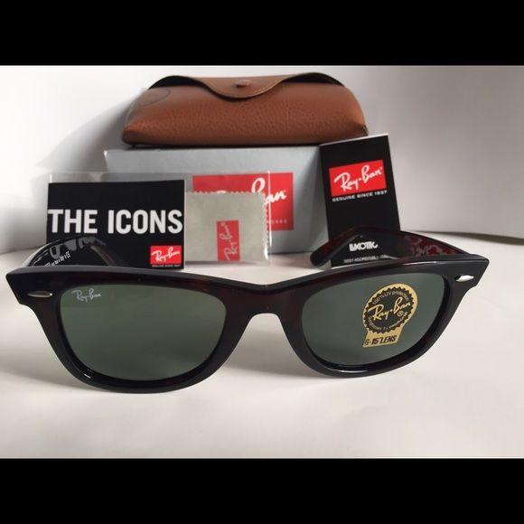 1ca19bdaa7 Ray Ban Original Wayfarer 902 Tortoise 50mm unisex Ray Ban Sunglasses RB  2140 902 tortoise with