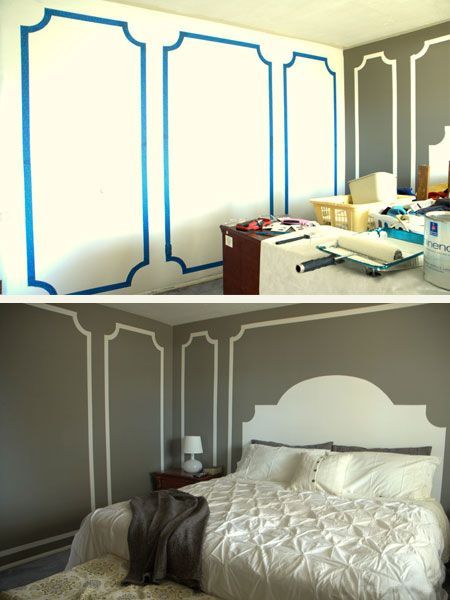 Painted Bedrooms. 5 Cool Painter s Tape Techniques  Painting tools Bedrooms and