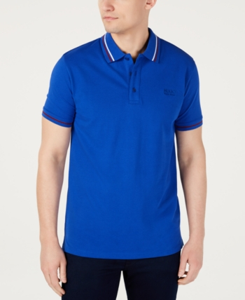 9ae192ac Hugo Men's Daruso-U1 Regular-Fit Embroidered Logo Polo - Blue L in ...