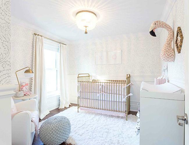 Dormitorio dulce y elegante   Nursery, Rocking chairs and Cot