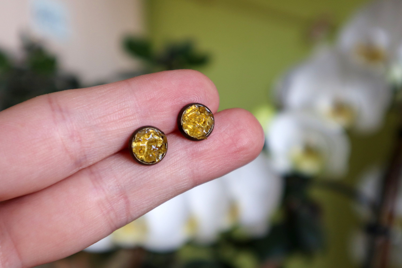 Photo of Gemstone studs November birthstone jewelry Citrine stud | Etsy