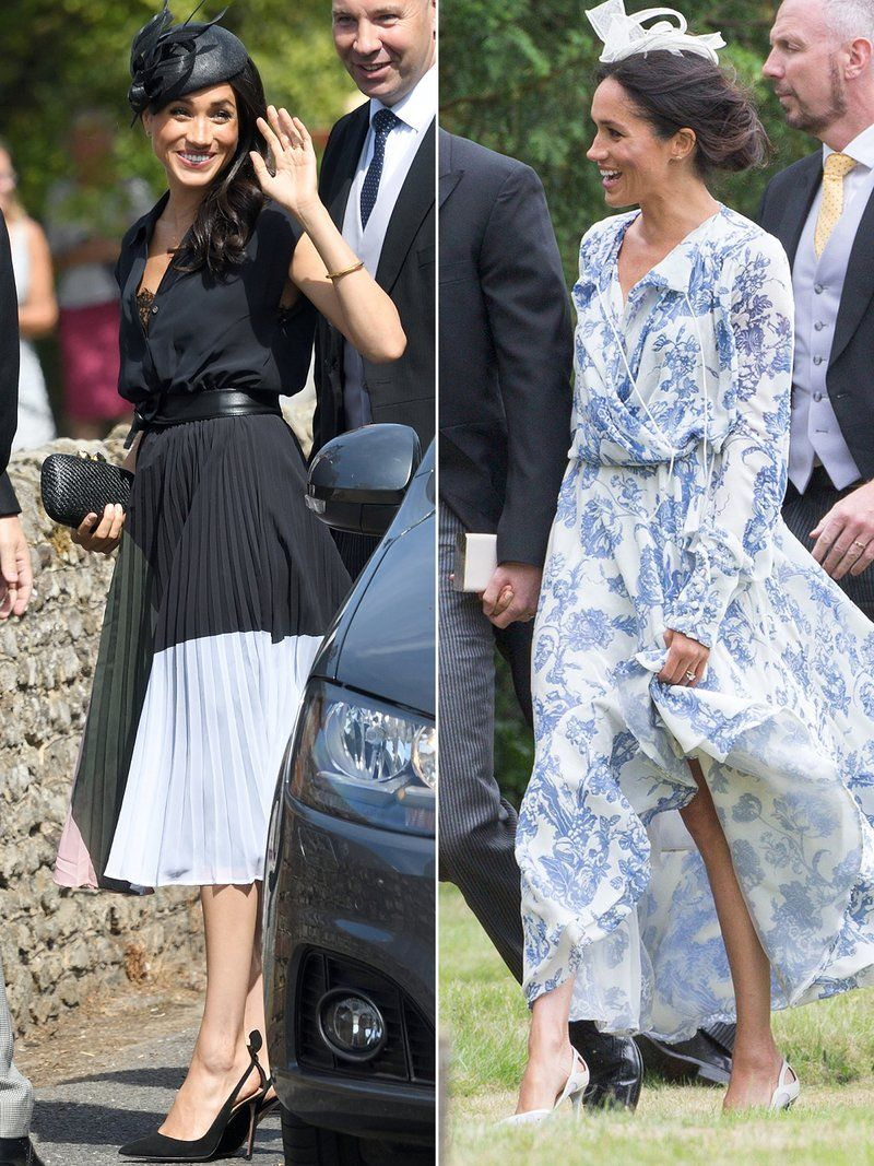 What Will Meghan Markle And Kate Middleton Wear To Princess Eugenie S Royal Wedding Royal Wedding Guests Outfits Royal Wedding Outfits Kate Middleton Dress [ 1067 x 800 Pixel ]