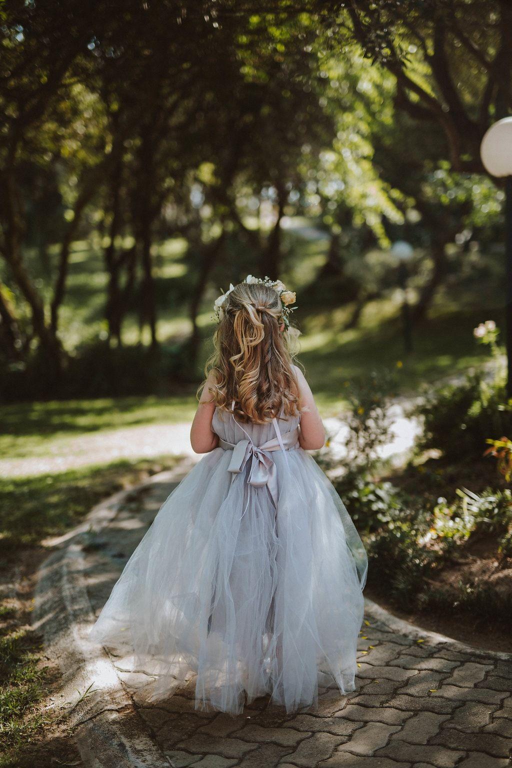 Rustic wedding flower girl dresses  Cute Grey Flower Girl Dress  Image Jessica J Photography  Flower