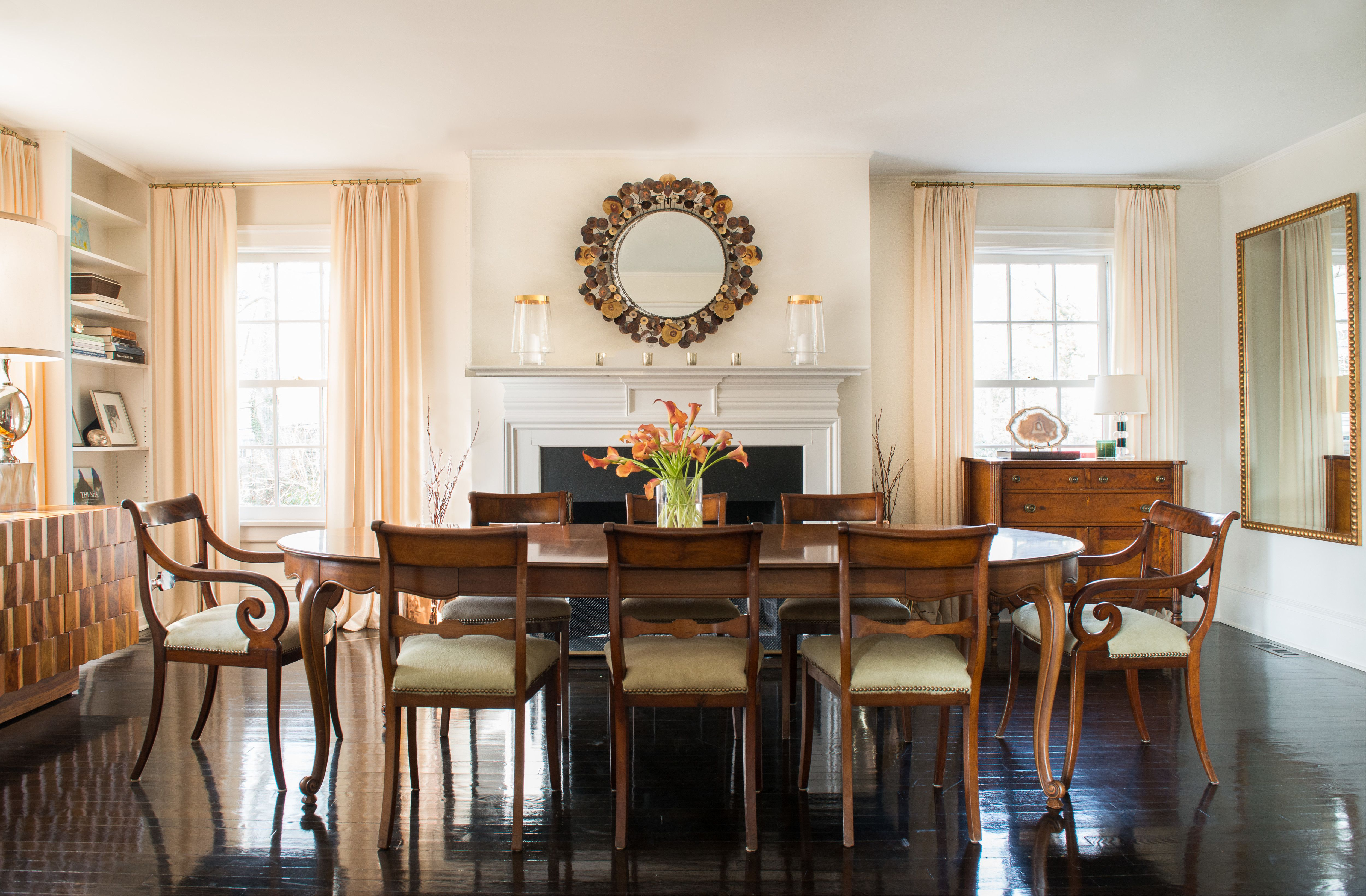 A Classic Westchester Cottage Goes Glam Dining Rooms