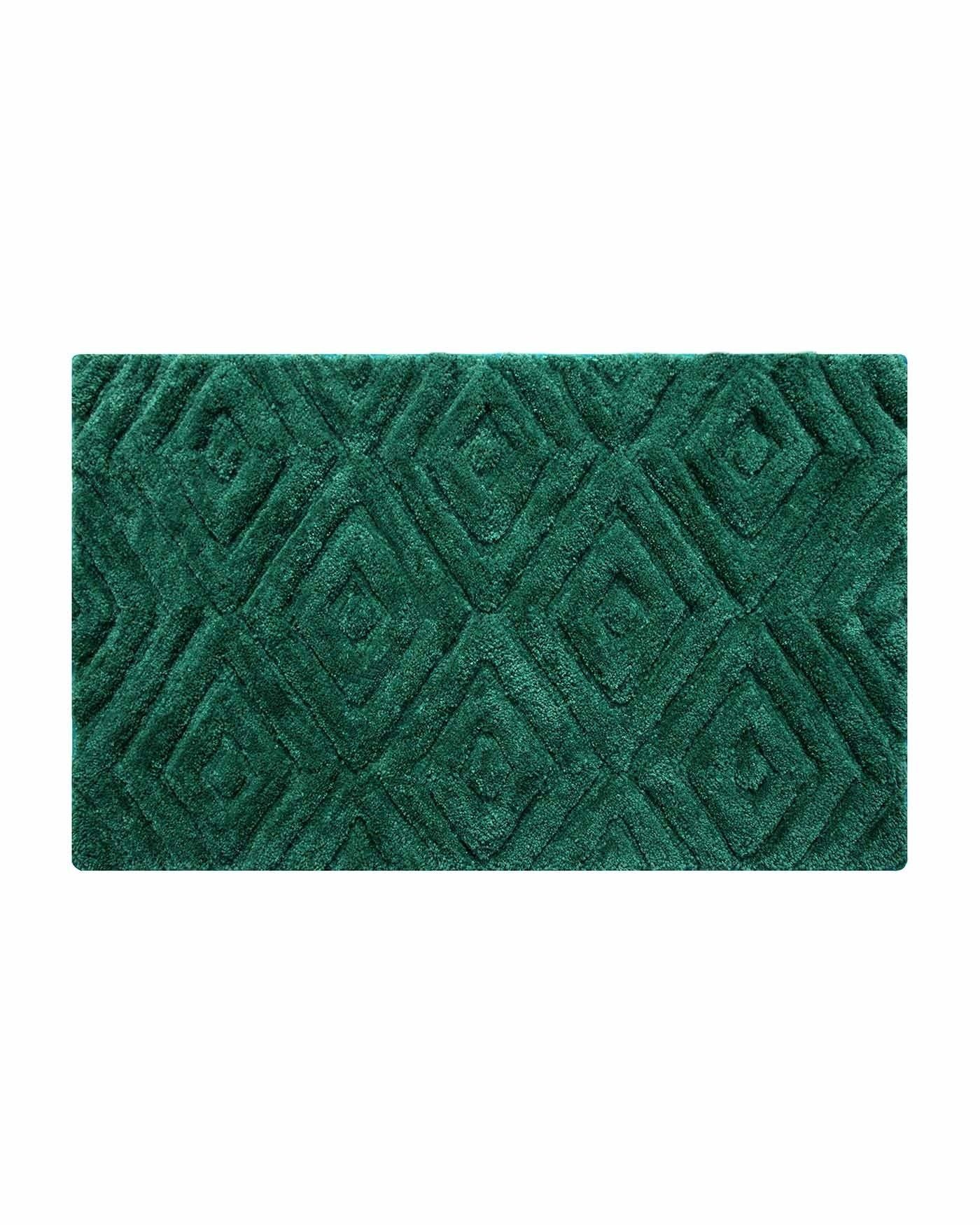 Thick Pile Emerald Green Bathmat This Large Bathroom Floor Mat