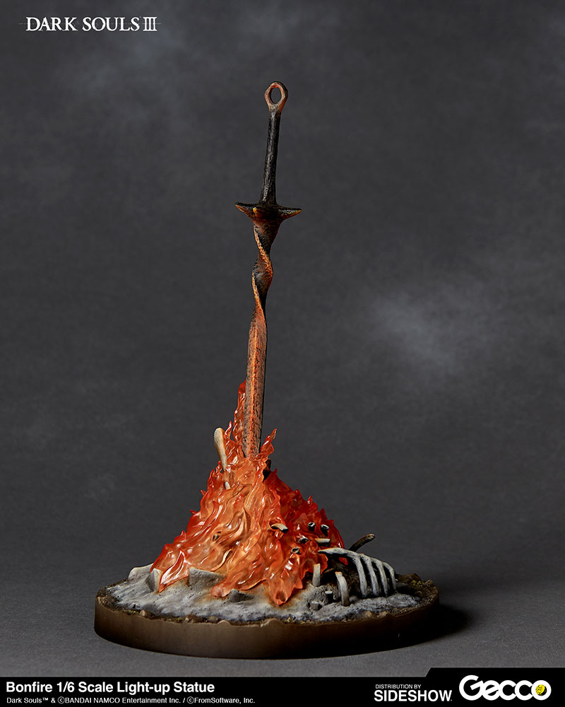 Dark Souls Bonfire Light Up Statue By Gecco Co Sideshow Collectibles Dark Souls Bonfire Lit Bonfire