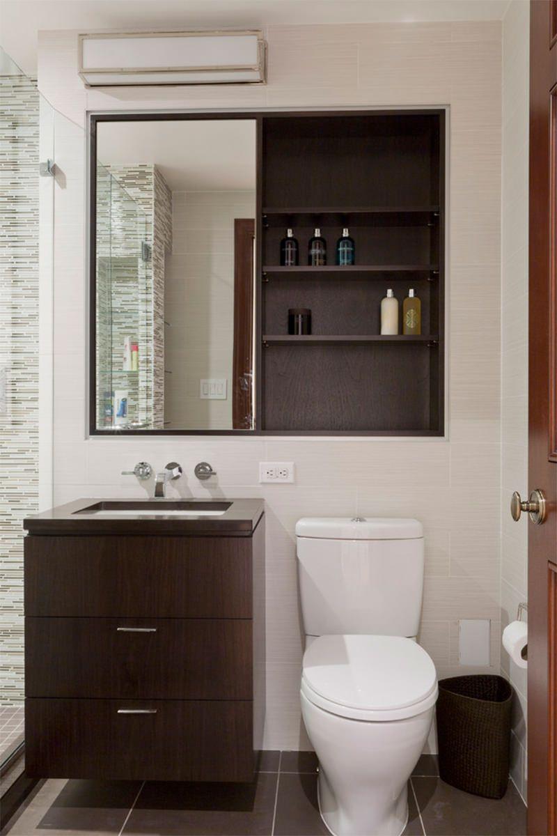 5 dicas para quem tem banheiro pequeno Pinterest Banheiro pequeno, Armarios embutidos e