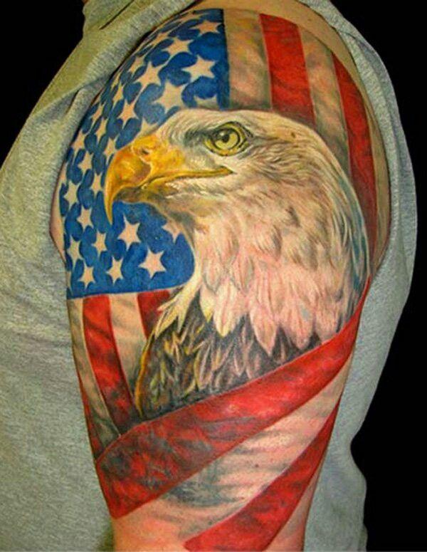 American Flag Eagle Tattoo American Flag Tattoos Eagle Tattoos