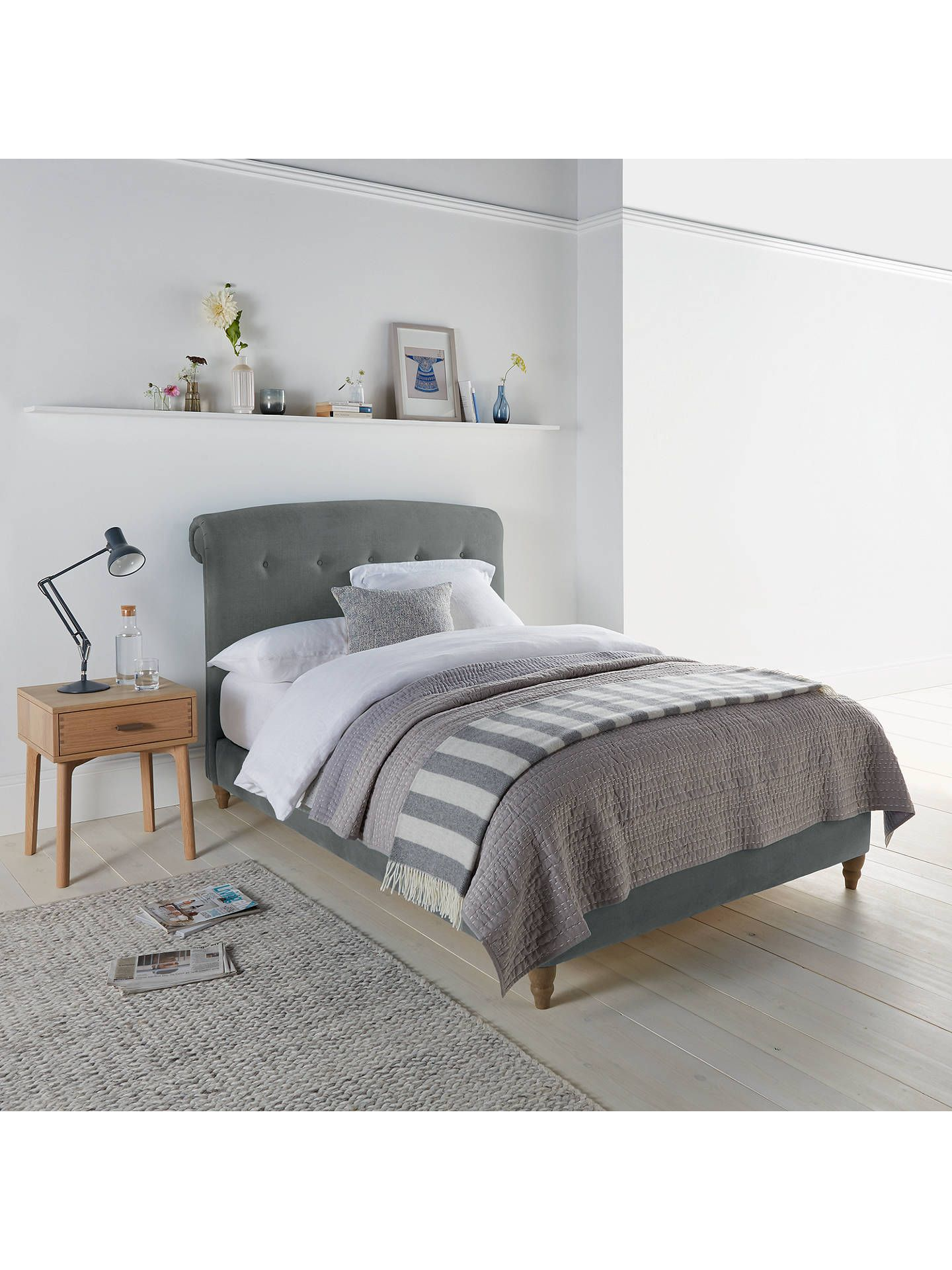 Peachy bed frame by loaf at john lewis in clever linen super king