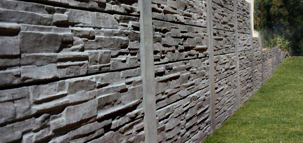 Slatecrete Retaining Wall And Fencing Systems Concrete Pavers Concrete Paving Retaining Wall