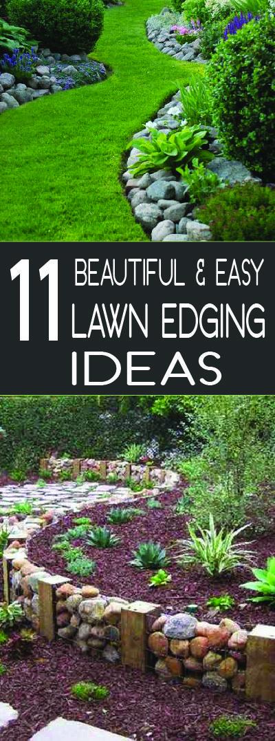 beautiful lawn edging ideas