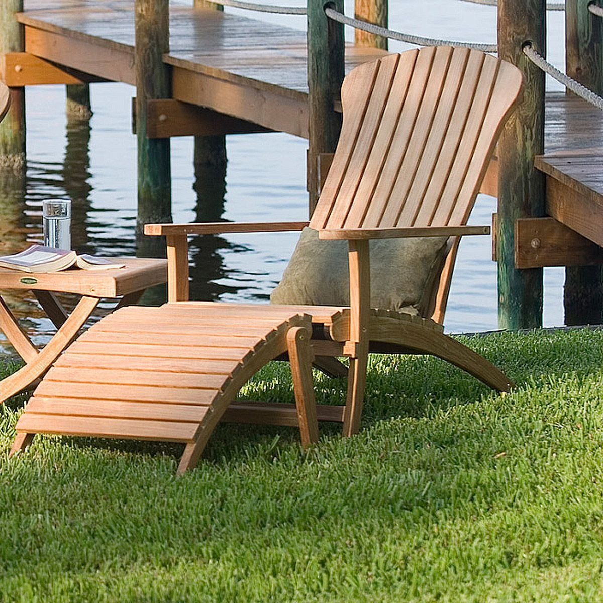Adirondack Chair With Footrest Teak Patio Furniture Westminster