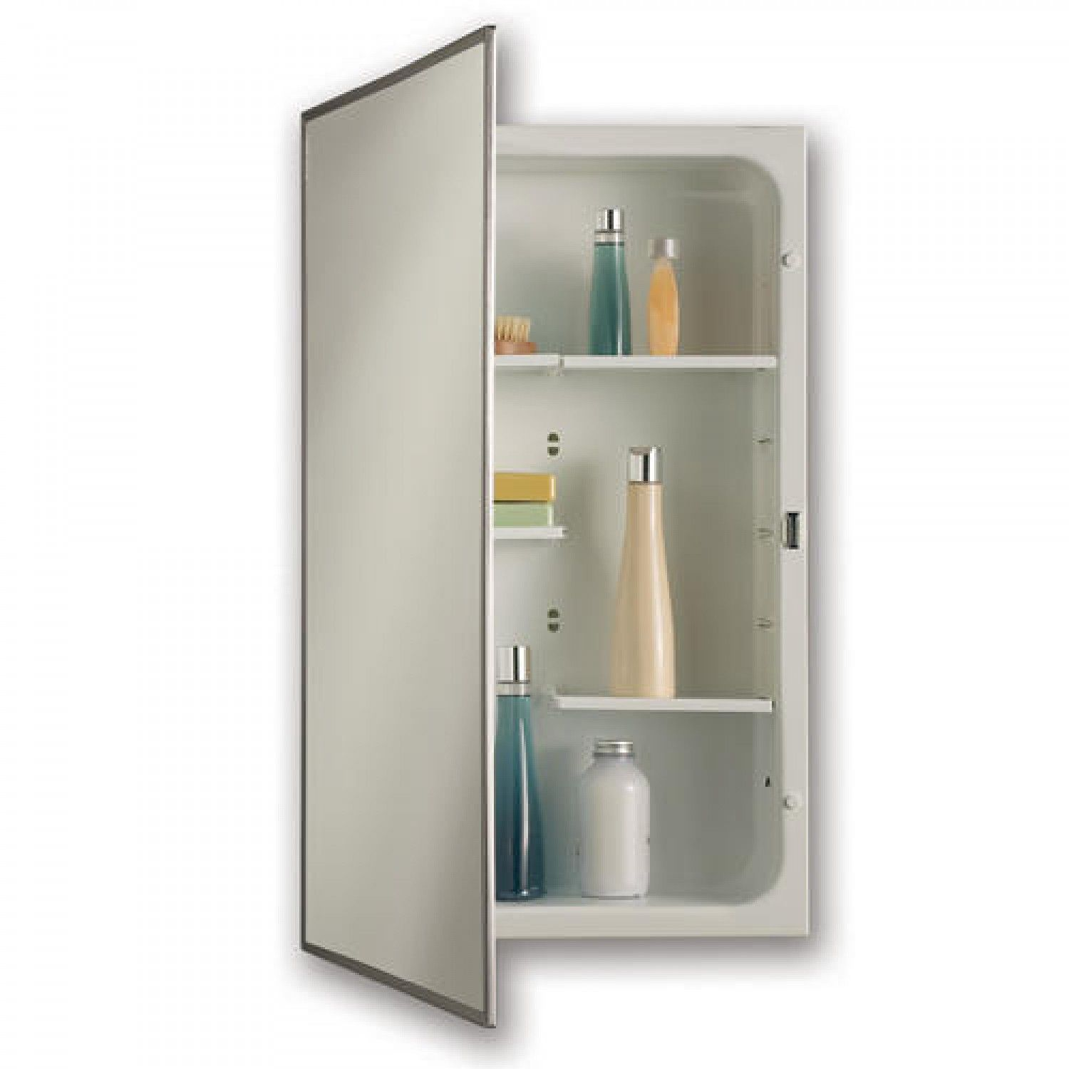 Modular Shelf Recessed Medicine Cabinet Stainless Steel