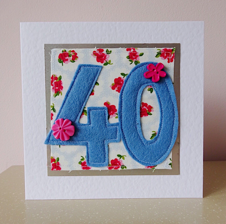 Friend 40th Birthday Woman 40th 40th Birthday Card Wife 40