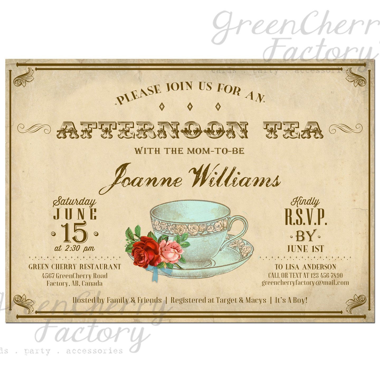Baby girl boy shower tea party invitation by greencherryfactory baby girl boy shower tea party invitation by greencherryfactory 1800 filmwisefo Choice Image