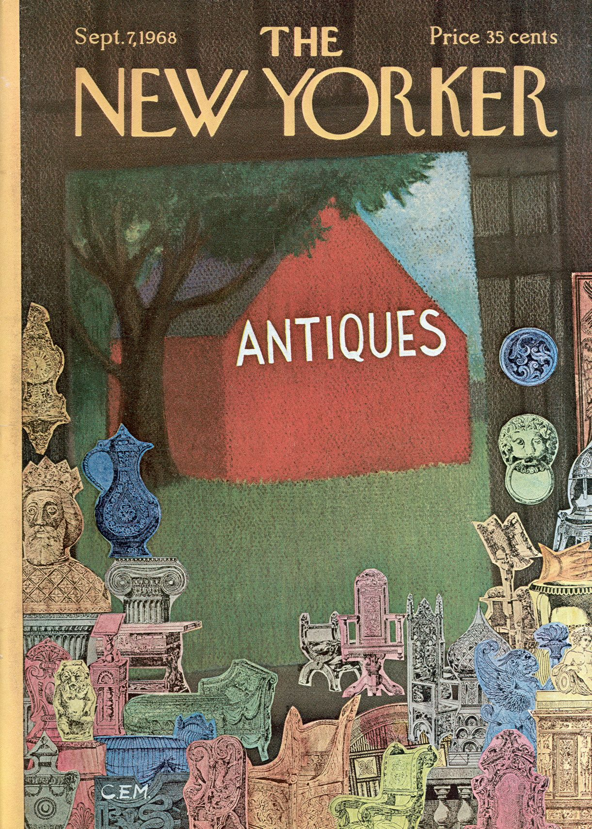 The New Yorker - Saturday, September 7, 1968 - Issue # 2273 - Vol. 44 - N° 29 - Cover by : Charles E. Martin