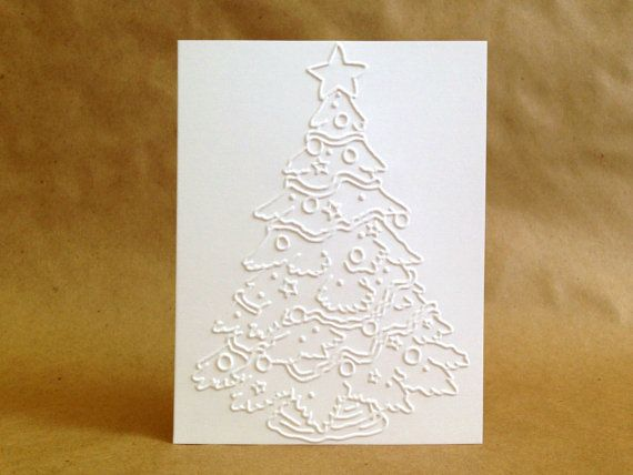 Boxed Christmas Cards Embossed Holiday Card Set by MyPrettyPaper