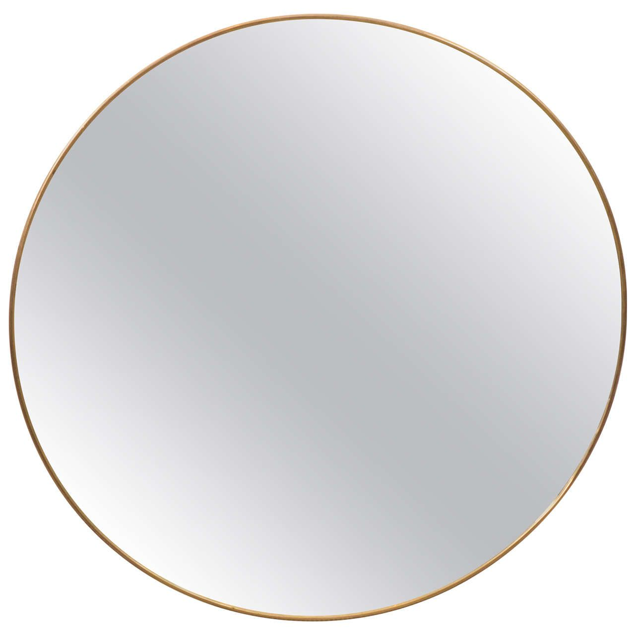 italian modernist brass framed round mirror s  from a uniquecollection of antique and. italian modernist brass framed round mirror s  from a unique