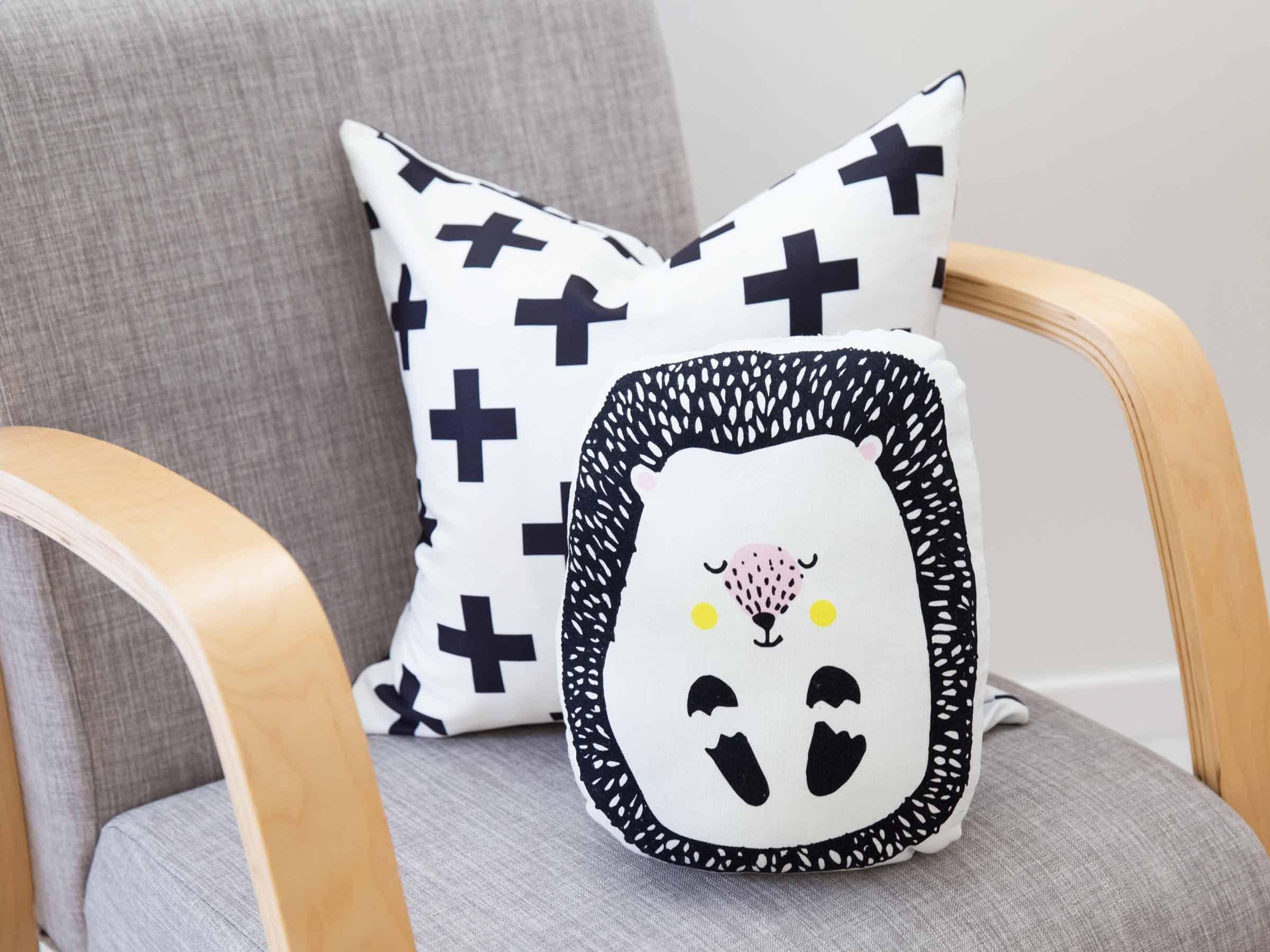 Nursery Decor Animal cushions, Sleepy animals, Modern