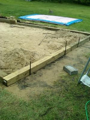 Framing pool sand base i have a 12 x 24 intex pool and for Above ground pool base ideas