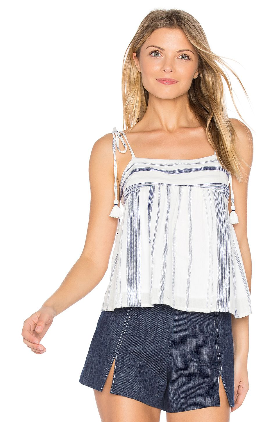 aa6b487be040 J.O.A. Stripe Tie Shoulder Top in Navy & White Stripe | I want ...