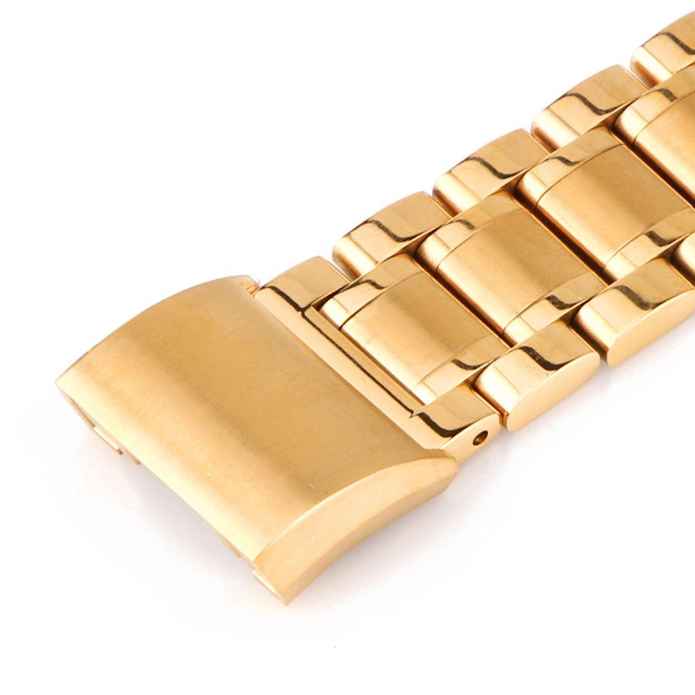 Blacksilvergold stainless steel bracelet band loop strap for