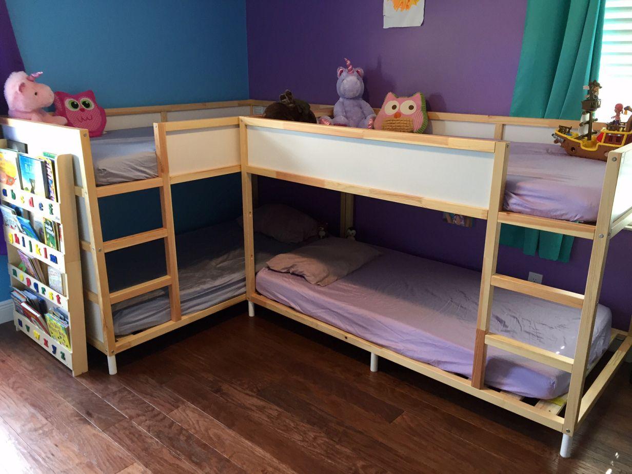Ikea Hack Kura Bunk Bed Diy Kids Shared Bedroom