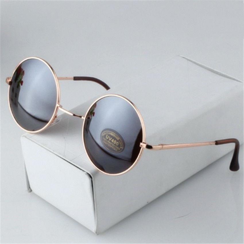 c72e9dc43 G dragon Style Fashion Vintage Round Sunglasses Mirrored Glasses Retro  Unisex Sun Glasses