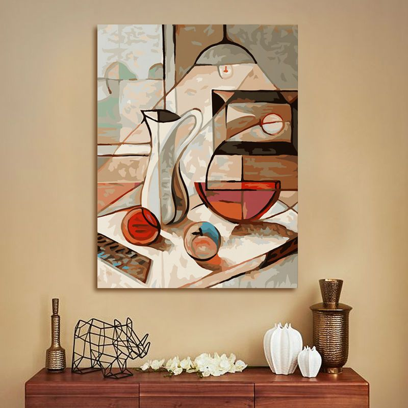 Coloring By Numbers Dining Table Abstract Oil Painting Diy Oil