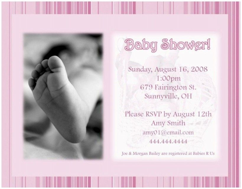 Fresh Baby Shower Ceremony Invitation Card Baby Shower