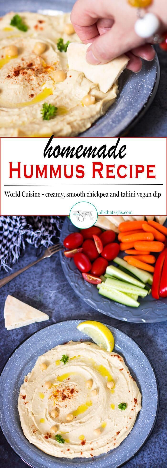 Delicious, creamy and smooth hummus made with chickpea and tahini is a vegan dip easy and quick to make at home even without a food processor.Delicious, creamy and smooth hummus made with chickpea and tahini is a vegan dip easy and quick to make at home even without a food processor.