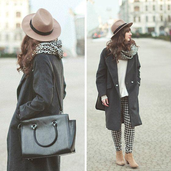 Maddy C - Coat, Bag, Hat - Grey.