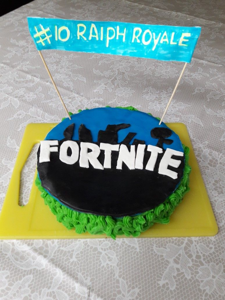Fortnite Birthday Cake Boys Cakes Easy 12th 5th Party Ideas