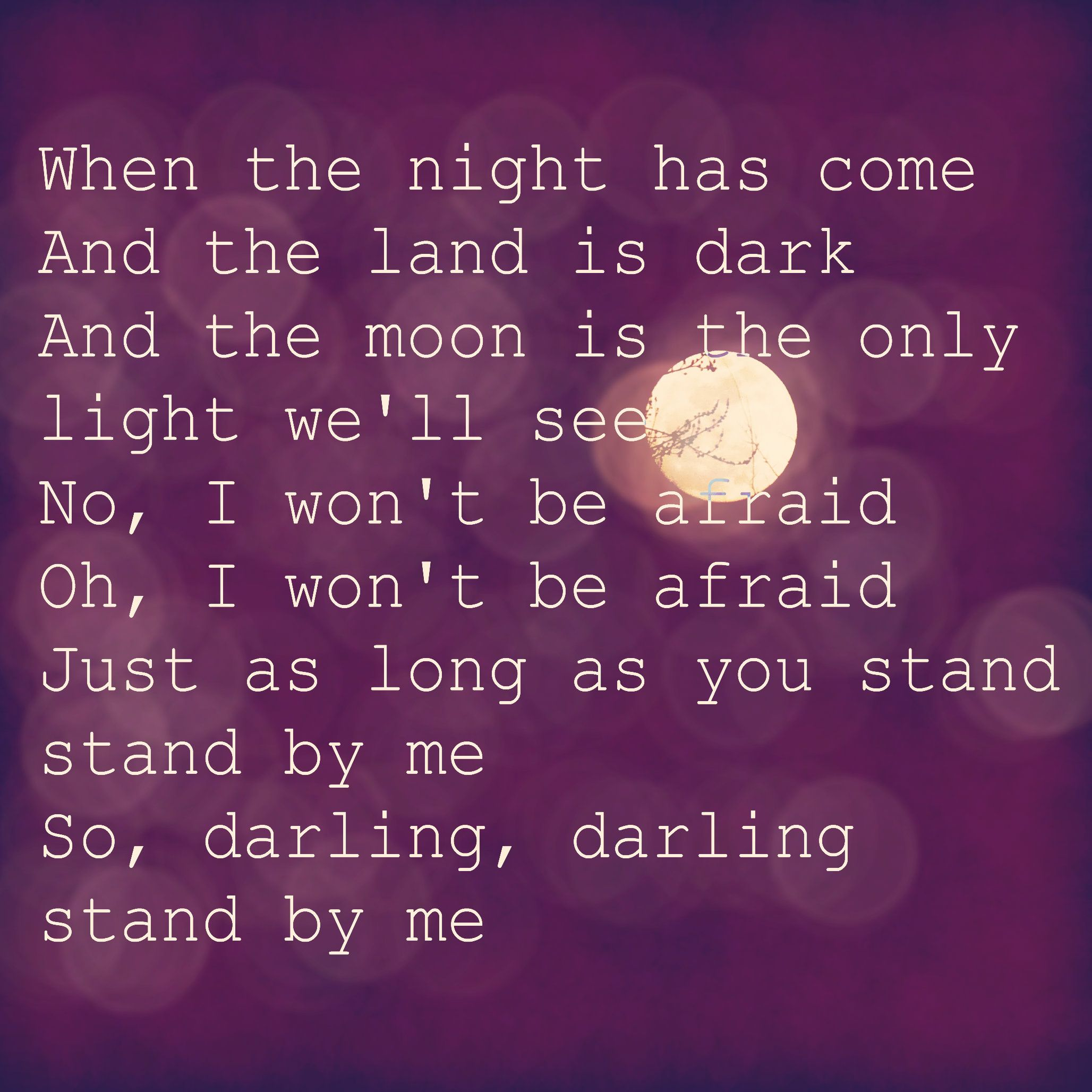 BEN E. KING - STAND BY ME (STAND BY ME) LYRICS
