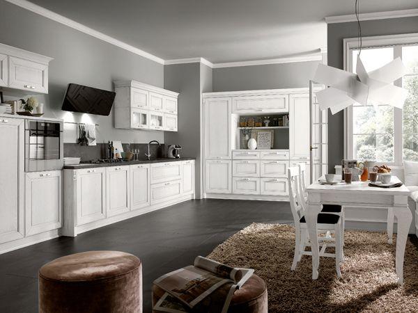 In pieno stile #totalwhite la splendida Dolcevita di Stosa Cucine ...