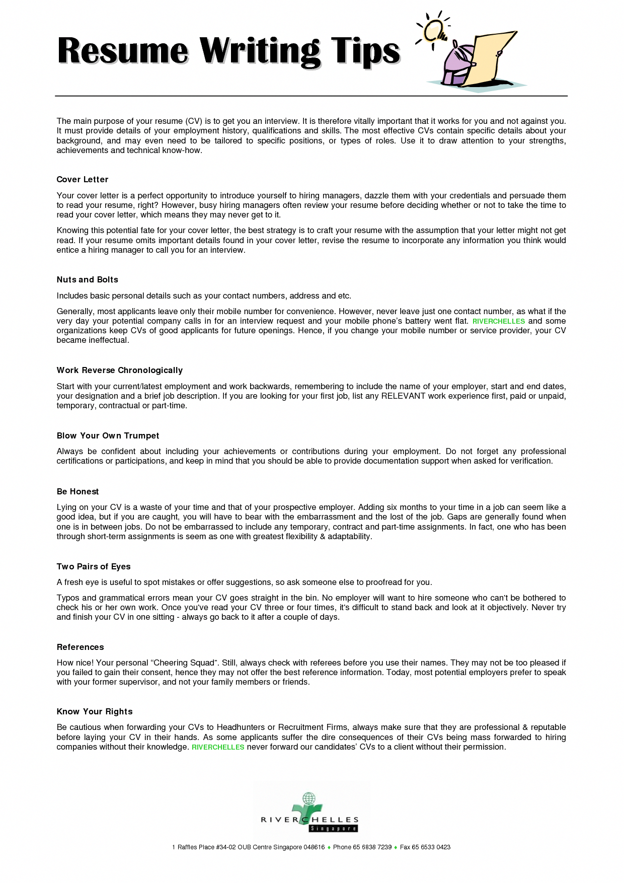 resume writing tips ResumeWritingExamples Resume